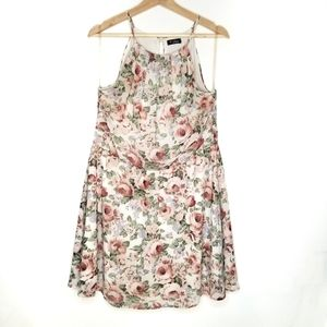 GUESS Floral Print Halter Neck Sleeveless Dress